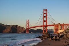 Όμορφος πυροβολισμός της χρυσής γέφυρας πυλών στοκ εικόνα με δικαίωμα ελεύθερης χρήσης