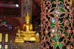 Όμορφος πόλος Wat Sri Rong Muang, βιρμανός ναός, Lampang, Στοκ φωτογραφίες με δικαίωμα ελεύθερης χρήσης