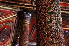 Όμορφος πόλος Wat Sri Rong Muang, βιρμανός ναός, Lampang, Στοκ φωτογραφία με δικαίωμα ελεύθερης χρήσης