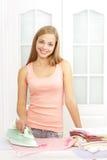 όμορφος σίδηρος κοριτσι Στοκ φωτογραφία με δικαίωμα ελεύθερης χρήσης