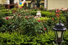 Όμορφος σχεδιασμένος καλοκαίρι κήπος Στοκ φωτογραφία με δικαίωμα ελεύθερης χρήσης