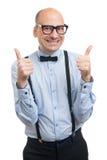 Όμορφος τύπος με suspenders και τον τόξο-δεσμό Στοκ φωτογραφίες με δικαίωμα ελεύθερης χρήσης