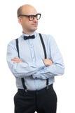 Όμορφος τύπος με suspenders και τον τόξο-δεσμό Στοκ Εικόνες