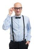 Όμορφος τύπος με suspenders και τον τόξο-δεσμό Στοκ φωτογραφία με δικαίωμα ελεύθερης χρήσης