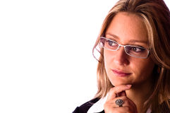 όμορφος φανείτε γυναίκα Στοκ εικόνα με δικαίωμα ελεύθερης χρήσης