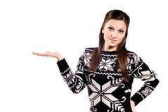 όμορφος φοίνικας κοριτσιών που παρουσιάζει επάνω Στοκ Φωτογραφίες