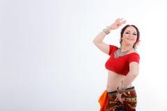 Όμορφος φυλετικός χορευτής brunette Στοκ φωτογραφία με δικαίωμα ελεύθερης χρήσης