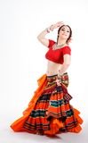 Όμορφος φυλετικός χορευτής brunette Στοκ εικόνα με δικαίωμα ελεύθερης χρήσης