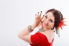 Όμορφος φυλετικός χορευτής brunette Στοκ Φωτογραφίες