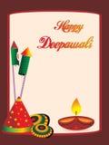 όμορφος χαιρετισμός diwali ε&omicron Στοκ Εικόνες
