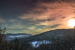 όμορφος χειμώνας ηλιοβασιλέματος Στοκ εικόνες με δικαίωμα ελεύθερης χρήσης