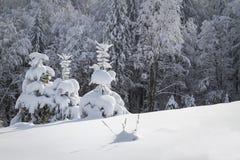 όμορφος χειμώνας ιστορίας χιονιού εξοχικών σπιτιών φινλανδικός δασικός κόκκινος s Στοκ Φωτογραφία