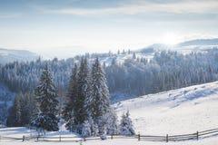 όμορφος χειμώνας ιστορίας χιονιού εξοχικών σπιτιών φινλανδικός δασικός κόκκινος s Στοκ Φωτογραφίες