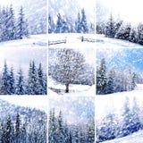 όμορφος χειμώνας κολάζ Στοκ εικόνα με δικαίωμα ελεύθερης χρήσης