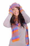 όμορφος χειμώνας κοριτσιών Στοκ εικόνα με δικαίωμα ελεύθερης χρήσης