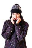 όμορφος χειμώνας κοριτσ&io Στοκ εικόνες με δικαίωμα ελεύθερης χρήσης