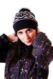 όμορφος χειμώνας κοριτσ&io Στοκ εικόνα με δικαίωμα ελεύθερης χρήσης