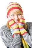 όμορφος χειμώνας κοριτσ&iot Στοκ φωτογραφία με δικαίωμα ελεύθερης χρήσης