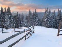 όμορφος χειμώνας τοπίων Στοκ Φωτογραφίες