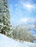 όμορφος χειμώνας τοπίων Στοκ φωτογραφία με δικαίωμα ελεύθερης χρήσης