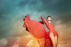 Όμορφος χορός γυναικών Στοκ Εικόνες
