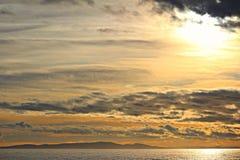 Όμορφος χρυσός sunet Στοκ Φωτογραφία