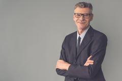 Όμορφος ώριμος επιχειρηματίας Στοκ Εικόνες