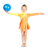 Όμορφος gymnast κοριτσιών με μια σφαίρα στοκ φωτογραφίες με δικαίωμα ελεύθερης χρήσης