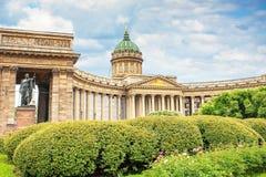 Όμορφος Kazan καθεδρικός ναός στη Αγία Πετρούπολη, η έννοια του ταξιδιού στοκ εικόνα