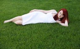 όμορφος redhead έφηβος φακίδων Στοκ Φωτογραφία