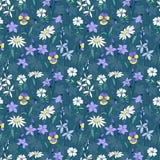 Όμορφο άγριο άνευ ραφής σχέδιο λουλουδιών Στοκ Εικόνες