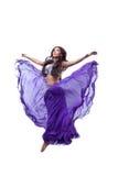 όμορφο άλμα κοριτσιών πετά&gamm Στοκ Εικόνα