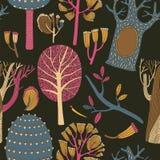 Όμορφο άνευ ραφής διανυσματικό floral σχέδιο Απεικόνιση αποθεμάτων