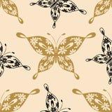 Όμορφο άνευ ραφής σχέδιο με τις πεταλούδες Στοκ φωτογραφία με δικαίωμα ελεύθερης χρήσης