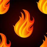 Όμορφο άνευ ραφής σχέδιο με τις φλόγες της πυρκαγιάς Στοκ Εικόνες