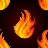Όμορφο άνευ ραφής σχέδιο με τις φλόγες της πυρκαγιάς Στοκ φωτογραφία με δικαίωμα ελεύθερης χρήσης