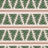 Όμορφο άνευ ραφής σχέδιο με το δέντρο έλατου Στοκ εικόνες με δικαίωμα ελεύθερης χρήσης
