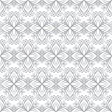 Όμορφο άνευ ραφής σχέδιο τυπωμένων υλών Λουλούδια Mandala με το άσπρο υπόβαθρο Στοκ Φωτογραφία
