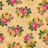 Όμορφο άνευ ραφής υπόβαθρο σύστασης σχεδίων λουλουδιών ελεύθερη απεικόνιση δικαιώματος
