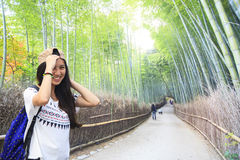 Όμορφο δάσος μπαμπού Arashiyama στο Κιότο, Ιαπωνία Στοκ εικόνες με δικαίωμα ελεύθερης χρήσης