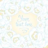 Όμορφο άσπρο και μπλε διάνυσμα υποβάθρου λουλουδιών  Στοκ Φωτογραφίες