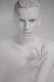 Όμορφο άτομο με τα όμορφα μάτια και το άσπρο δέρμα Στοκ εικόνες με δικαίωμα ελεύθερης χρήσης