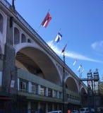 Όμορφο έδαφος της Ελβετίας γεφυρών Chaudron στοκ φωτογραφία με δικαίωμα ελεύθερης χρήσης