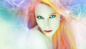 Όμορφο έργο τέχνης γυναικών Στοκ φωτογραφία με δικαίωμα ελεύθερης χρήσης