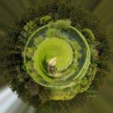 όμορφο αγροτικό καλοκαίρι τοπίων Στοκ φωτογραφίες με δικαίωμα ελεύθερης χρήσης