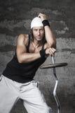 Όμορφο αθλητικό άτομο μπλε ματιών Στοκ εικόνες με δικαίωμα ελεύθερης χρήσης