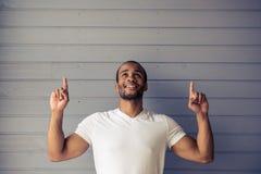 Όμορφο αμερικανικό άτομο Afro Στοκ Εικόνες