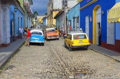 Όμορφο αναδρομικό αυτοκίνητο στην Κούβα Στοκ Εικόνα