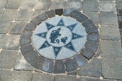 Ανεμολόγιο κατευθύνσεων πυξίδων Στοκ φωτογραφίες με δικαίωμα ελεύθερης χρήσης