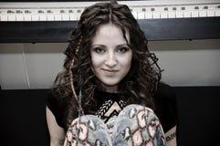 Όμορφο ανεξάρτητη δισκογραφική εταιρία φυλετικό κορίτσι pocahontas Στοκ Φωτογραφίες